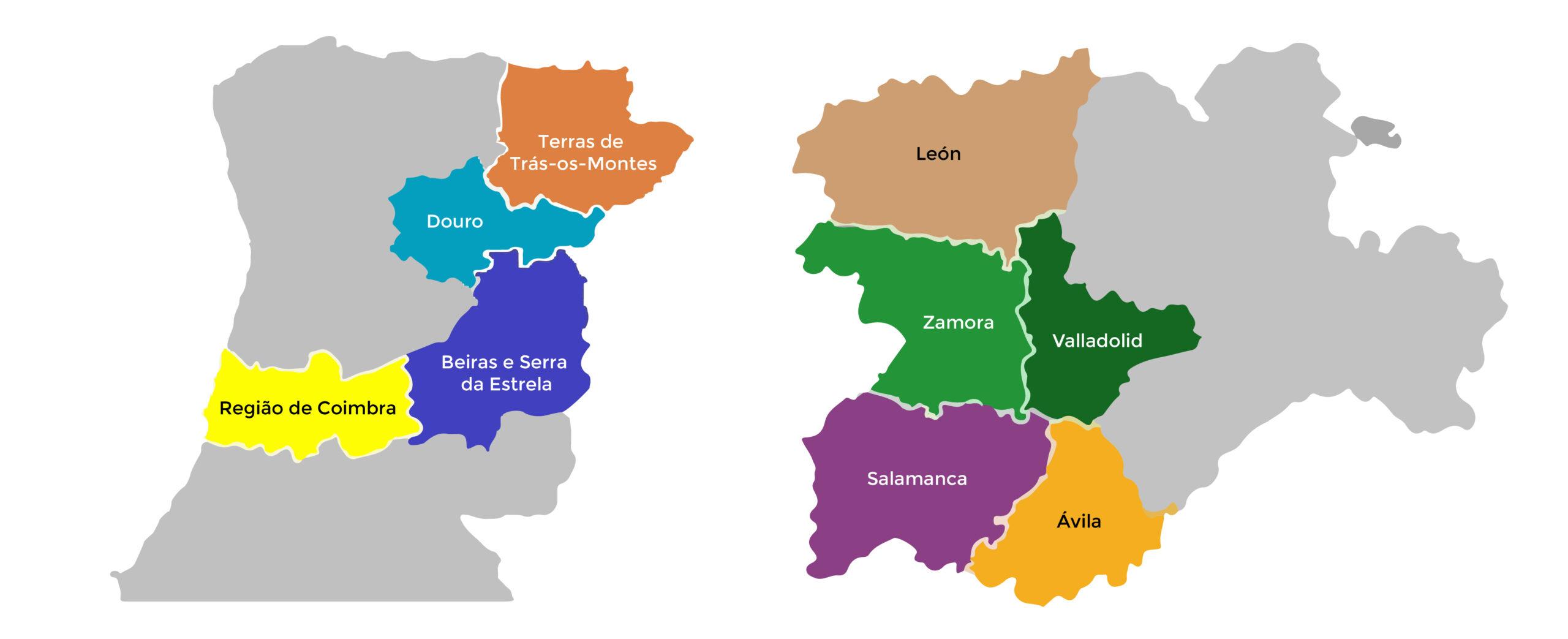 Mapa de las zonas de Actuación. Inbec